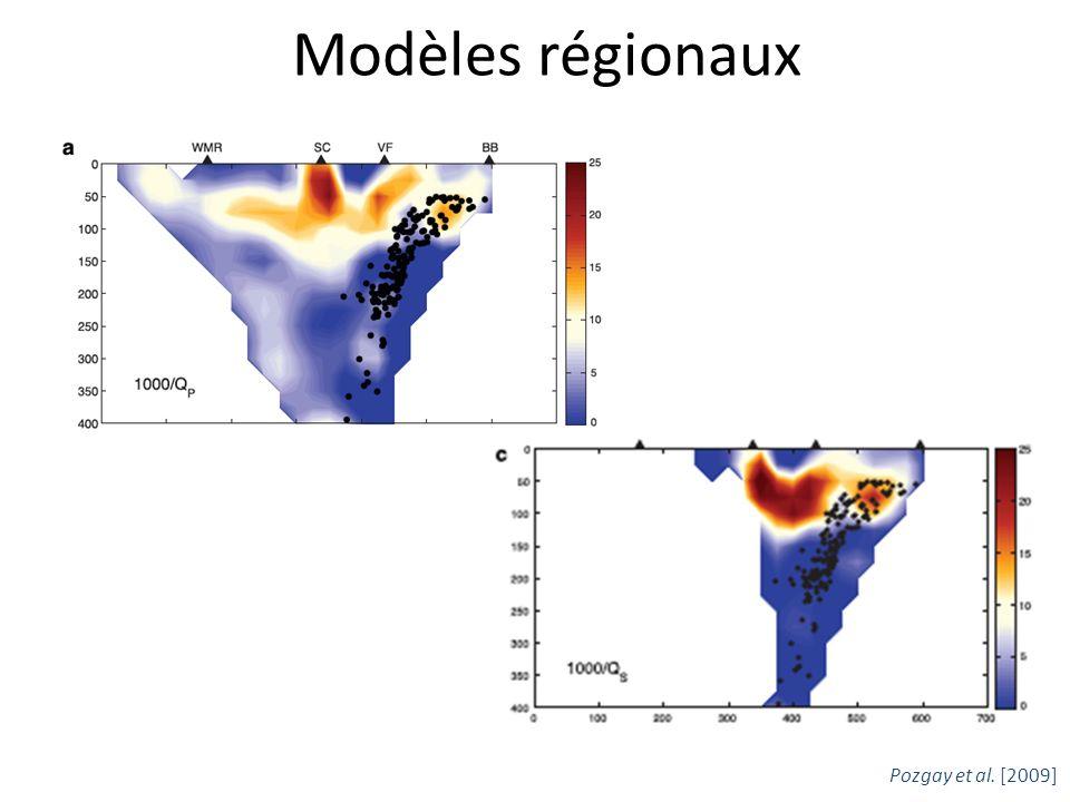 Modèles régionaux Pozgay et al. [2009]